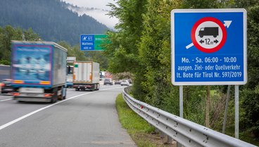 Tyrol - Driving bans on certain exit ramps along the A 12 (Inntalautobahn) and A 13 (Brennerautobahn)